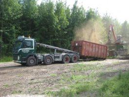 Vognmand på Fyn, Container aflæsning